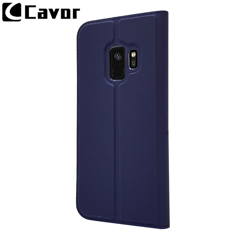 Luxury Leather Coque Cases For Samsung Galaxy S9 S 9 S8 S9 Plus S7 Edge A3 A5 2017 A8 A8 Flip Case Wallet Cover Fundas Hoesjes in Wallet Cases from Cellphones Telecommunications