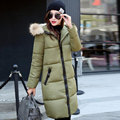 Winter 2017 Women Jackets Cotton Wadded Coat Fashion Long Plus Size Parka Fur Collar Female Thickening Jackets Hot Sale Y389