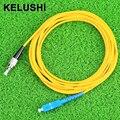 KELUSHI 2016 FTTH SC-FC sc-fc 3 meters singlemode simplex fiber optic jumper fiber optic patchcord fast shipping