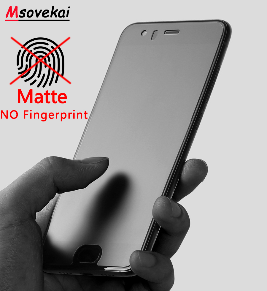 Matte Frosted Tempered Glass For Xiaomi Redmi Note 7 6 5 Pro 5 Plus K20 Pro 6A 6 Pro 5A S2 Y2 Black Shark Screen Protector Film in Phone Screen Protectors from Cellphones Telecommunications