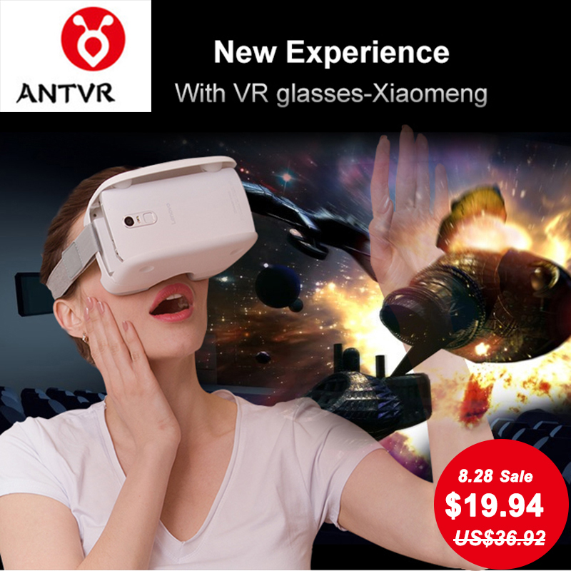 ANTVR 3D Folding Portable VR Glasses Box Little-Mon Virtual Reality Headset Head-mounted for 4.7-6.0 Android IOS iPhone Samsung