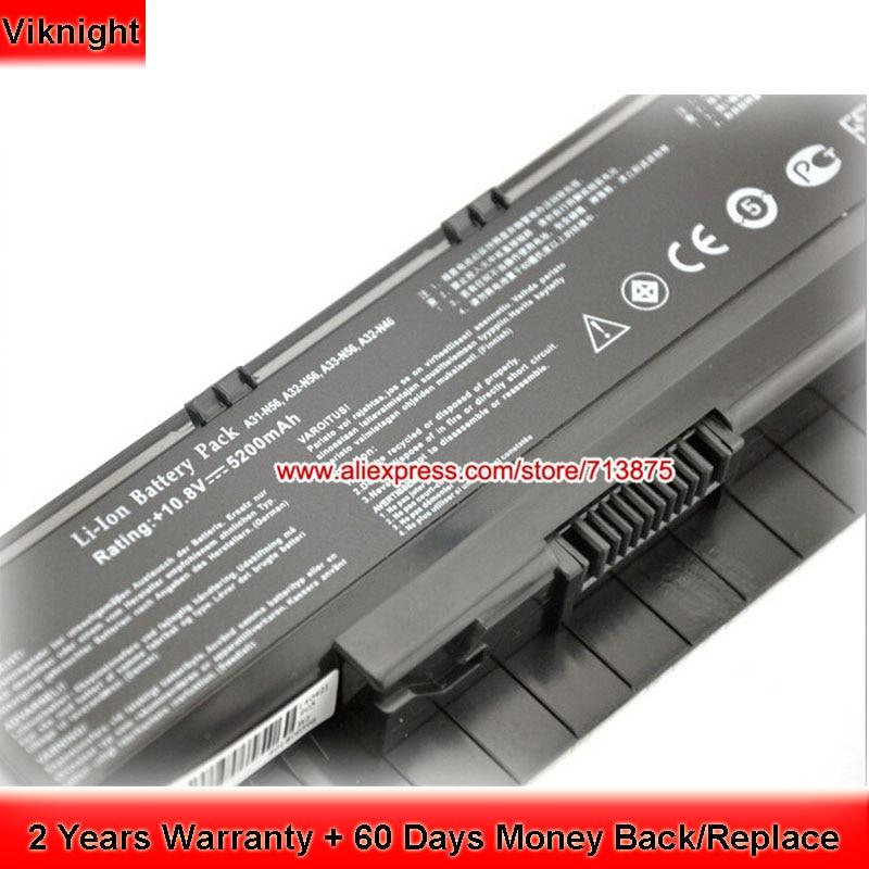n56l82h Battery for Asus n56v n56vz n76vz A32-N56 Laptop 5200mAh laptop battery for asus x552 x552cl x552e x552ea x552ep x552l x552ld x552vl x552la 15v 2950mah 44wh li ion oem
