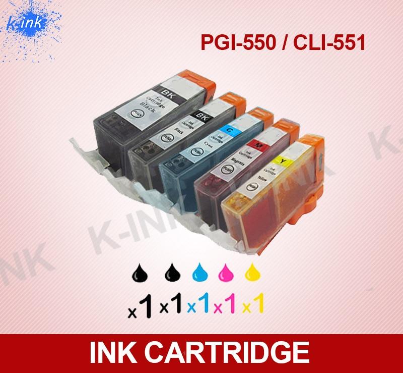 С чипом Full Ink PGI-550 CLI-551 чернильный картридж совместимый для CANON PIXMA MG5650 MG5450 MX925 MG5550 MG6450 MG6650 принтера