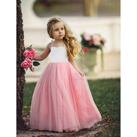 MIQI New Arrival Dress For Girl Wedding Party Princess Dress Cute Voile Ankle Length Shoulder Straps