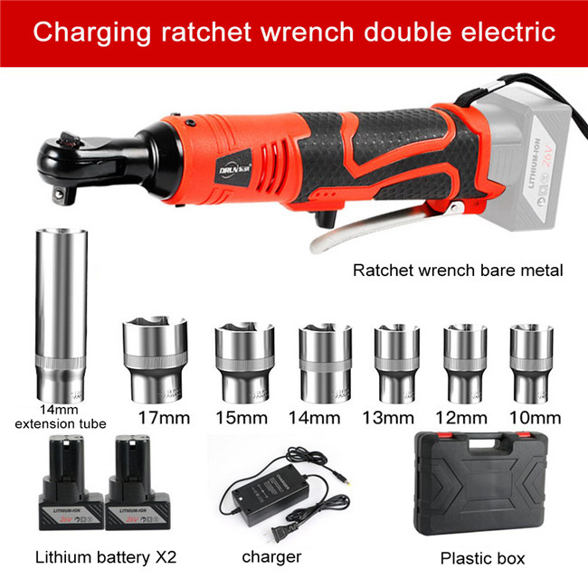 12V Electric Ratchet Wrench with Lithium Rechargeable Battery Portable Electric Cordless Impact Wrench Repair Power Tool 12V 26V in Electric Wrenches from Tools