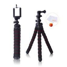 Fosoto Средний Осьминог Гибкий цифровой Камера стенд Gorillapod монопод мини-штатив с держателем для GoPro Hero 2 4 3 + 3 и телефон