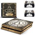 Assassins creed juego protector decoración engomada de la piel para sony playstation 4 decal pegatinas para ps4 consola + 2 unids controle