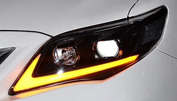 1pair Newest Style Led Headlight Front Light Head Lamp With Bar For Toyota Corolla 2017 In Car Bulbs From Automobiles