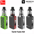 2017 New Original Vaporesso Tarot Nano Kit 2ml Veco Tank and 80W Box Mod Vape 2500mah Battery Vaporizer Electronic Cigarette