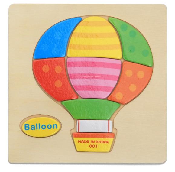 3D деревянные головоломки, игрушки для детей, Деревянные 3d Мультяшные головоломки с животными, интеллектуальные детские развивающие игрушки для детей - Цвет: Цвет: желтый