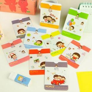 Girl momoi 2 place card case id cards set bank card bag bus card holder badge bag