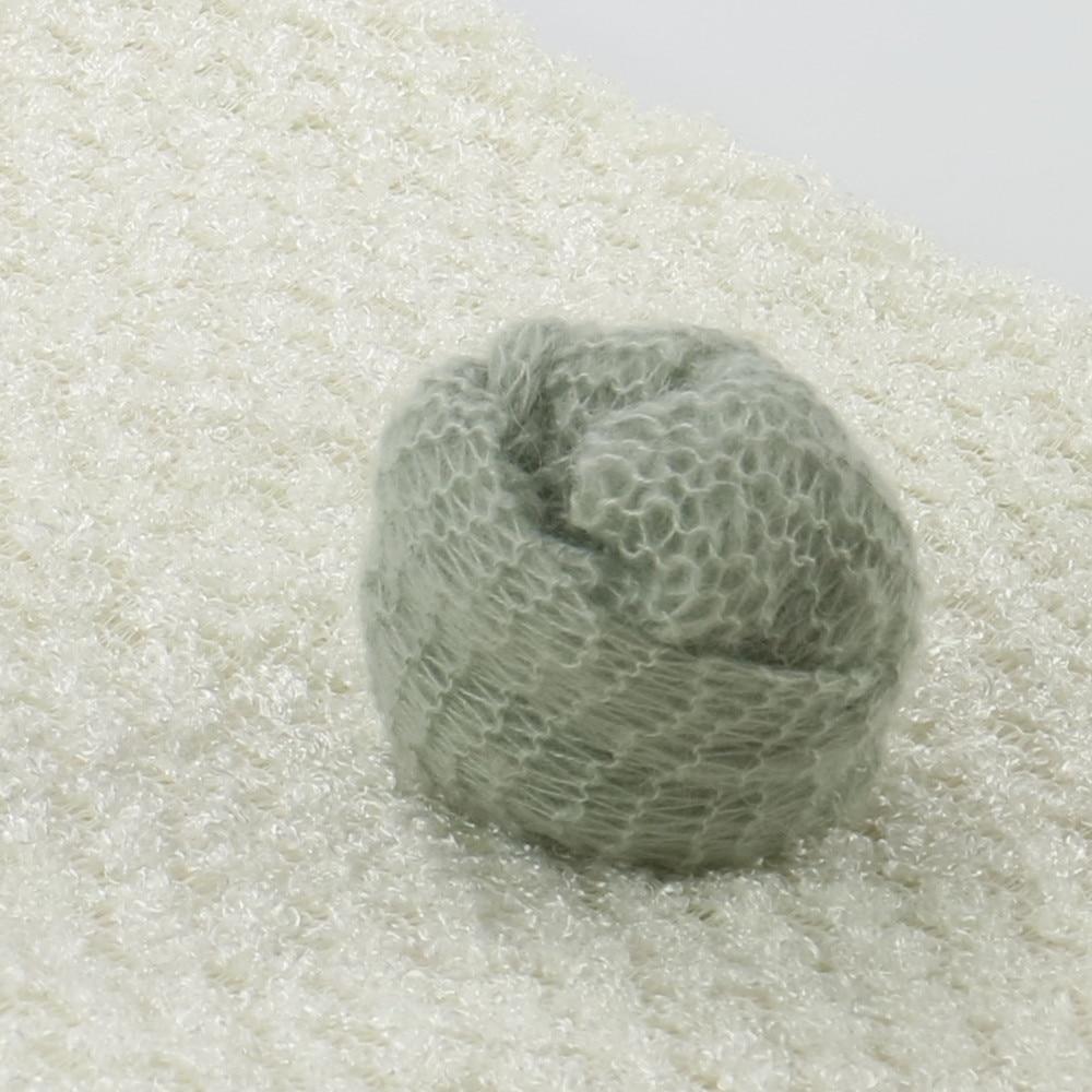 ᗑHandknit stretch Soft mohair bebé envoltura 60x30 cm 2 unids/lote ...