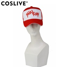 Coslive The King of Fighters Game Baseball Cap Terry Bogard Derivative Red    White Hat Cosplay Costume Accessories Casual Hats f8b207bd1423