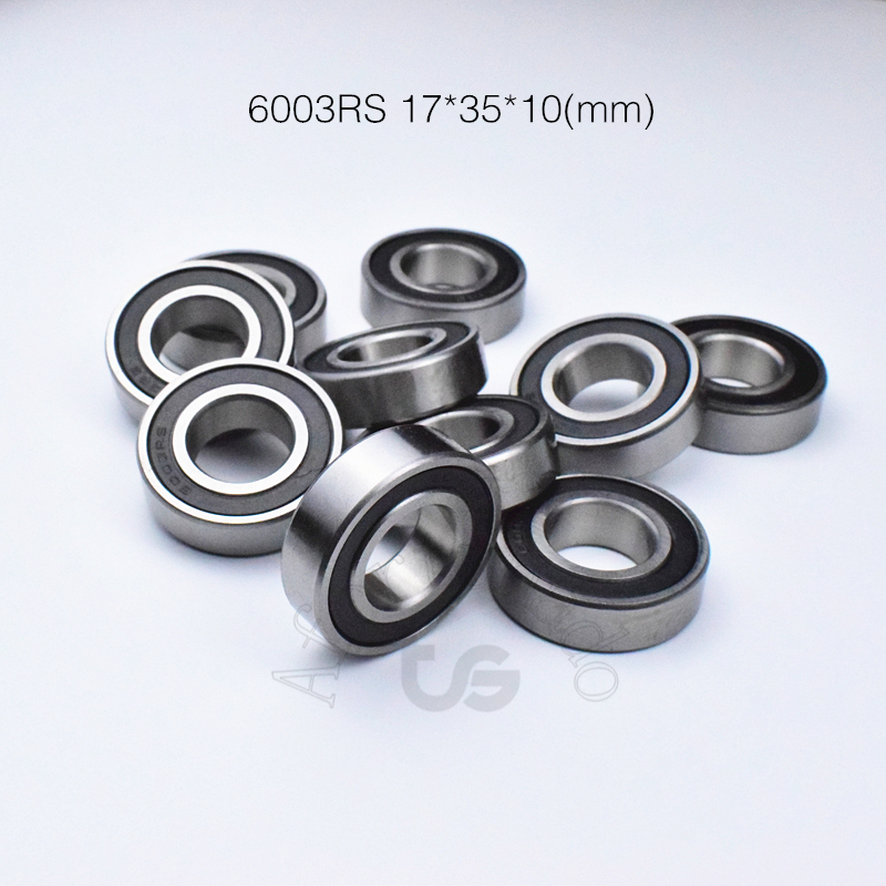 6003RS  17*35*10(mm) 1Piece Bearing ABEC-5 Rubber Sealing Bearings 6003 6003RS Chrome Steel Deep Groove Bearing