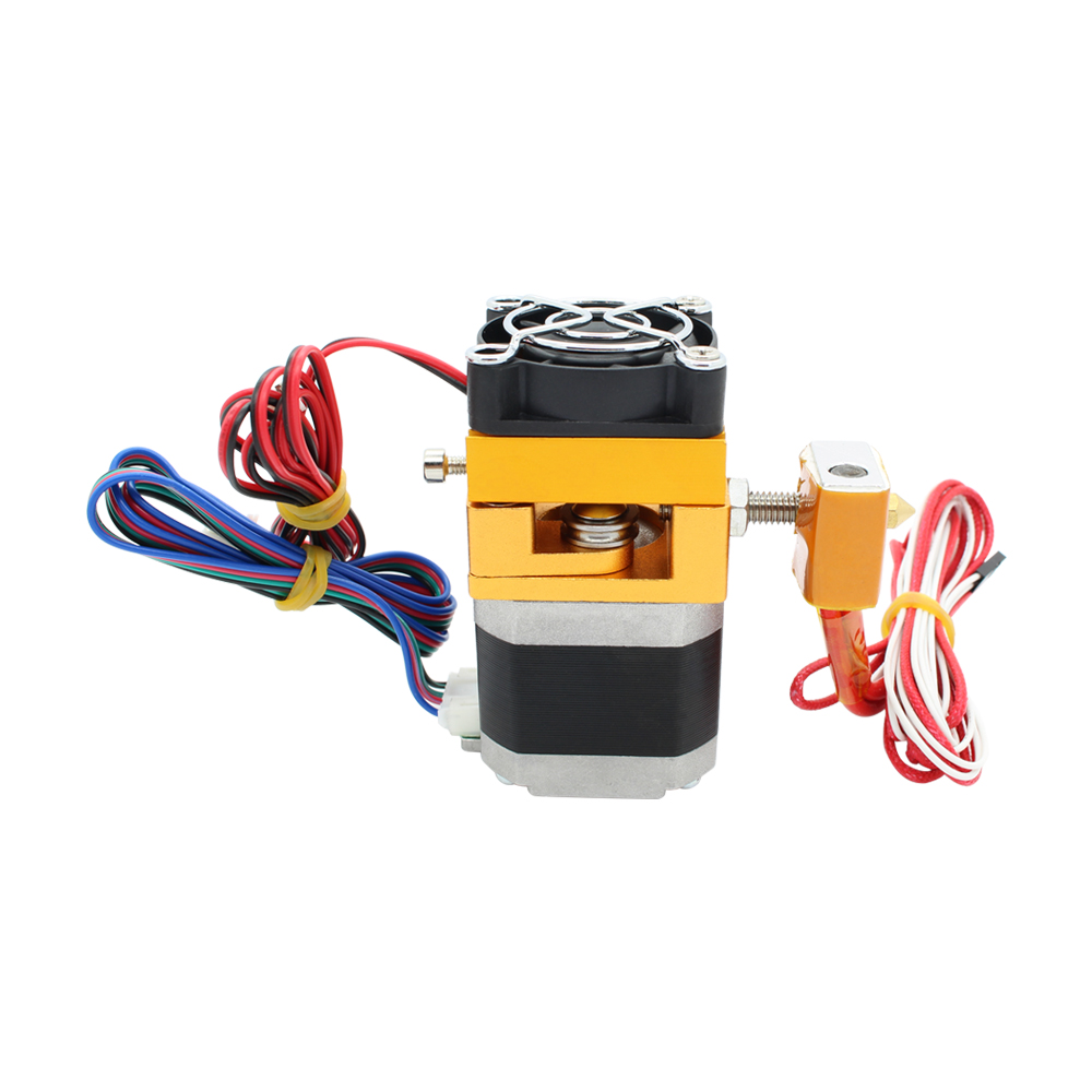 MK8 Extruder J-head Hotend Nozzle 0.4mm Feed Inlet Diameter 1.75 Filament Extra Nozzle +1 meter motor cable for free long distance 3d printer j head hotend jhead for 1 75mm filament e3d bowden extruder 0 4mm nozzle bi092
