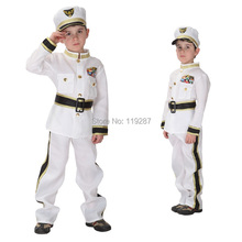 Shanghai Story Halloween children's traffic army police clothing navy sailors clothing children show costume for cosplay costume