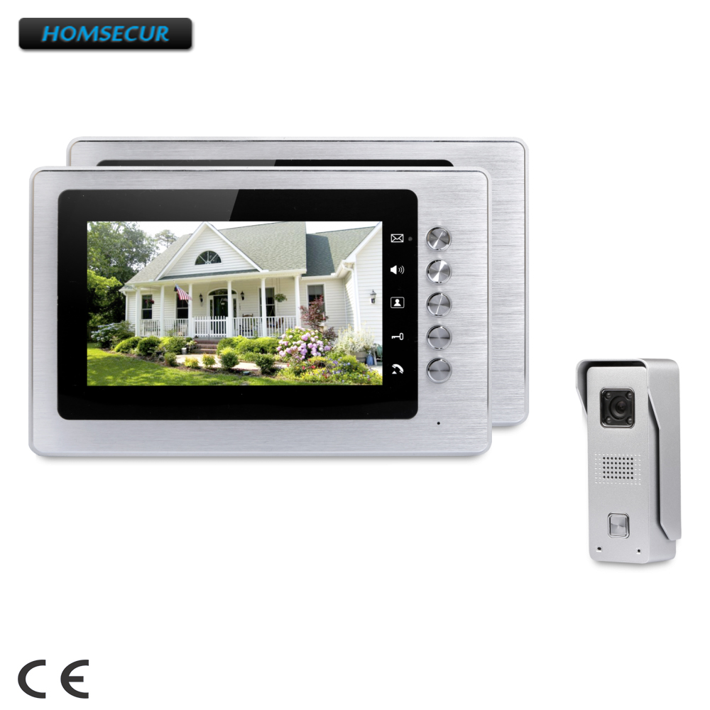 HOMSECUR7 7inch Video Door Entry Security Intercom with IR Night Vision for Home Security  XC002+XM705HOMSECUR7 7inch Video Door Entry Security Intercom with IR Night Vision for Home Security  XC002+XM705