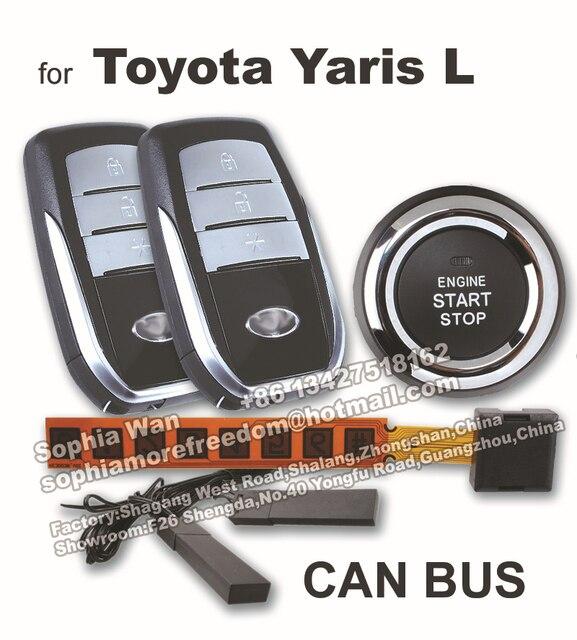 Toyota Remote Start Cost >> For Toyota Yaris L CAN BUS car alarm DIY push start button smart key PKE keyless entry remote ...