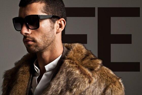 Männer Kunstpelz Mantel Marke Mode Slim Fit Turn-Down Luxus Langen - Herrenbekleidung - Foto 2