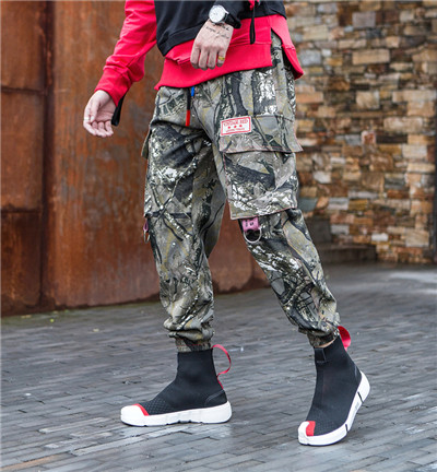 Autumn And Winter Camo Camouflage Cargo Pants Men Women Casual Streetwear - Цвет: Camouflage