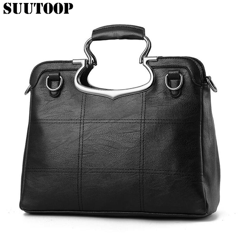 Suutoop 2017 Women shoulder bags patchwork top handbag clutch bolsos zipper pack