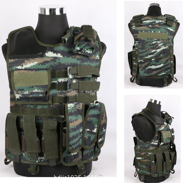 2016 Nueva Colete tatico loja artigos militares airsoft molle Chaleco Táctico SWAT chaleco táctico Saltadores de Represión schutzweste