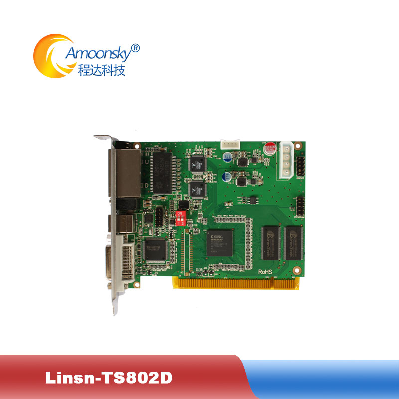 LINSN TS802D Sending Card Full Color LED Video Display LINSN TS802 Sending Card Synchronous LED Video Card TS802(China)