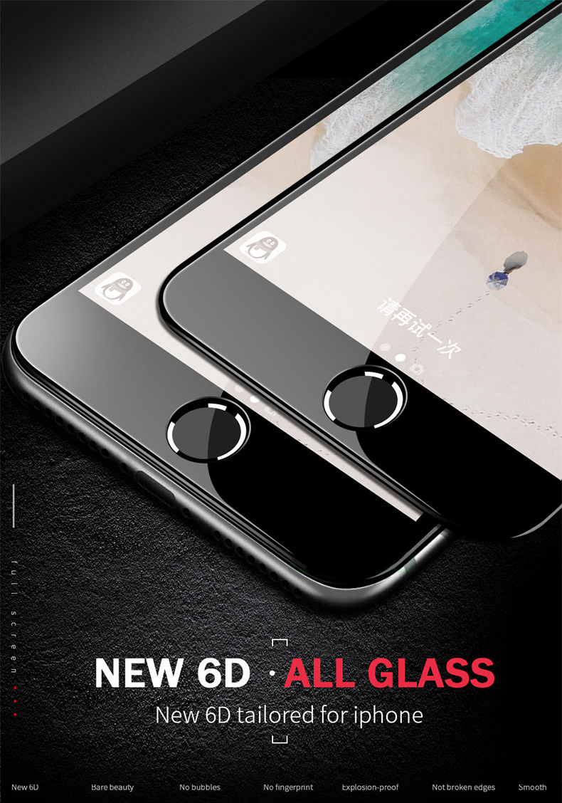 6D Full Cover Tempered Glass For iPhone 8 7 6 6S Plus X XS MAX glass iphone 7 8 x screen protector Protective glass on iphone 7 HTB1Ii8wysuYBuNkSmRyq6AA3pXaM