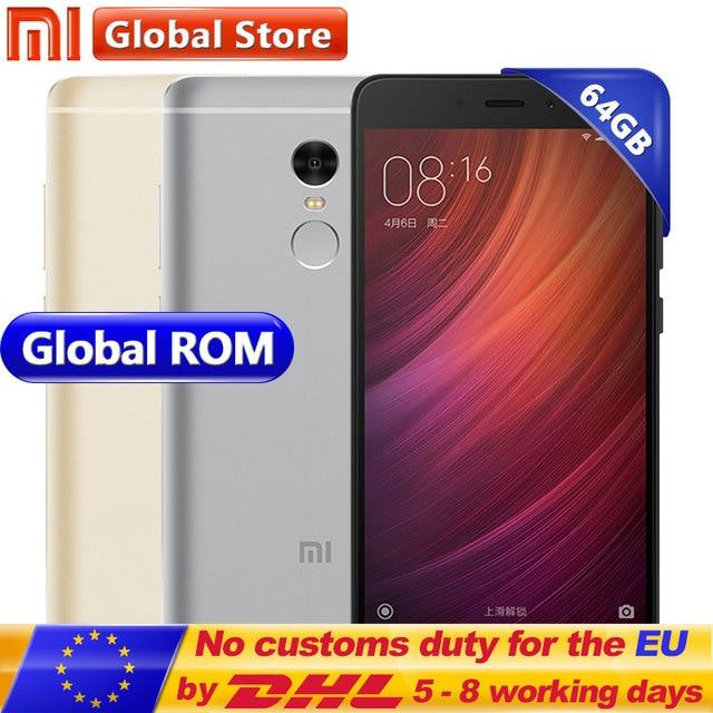 "Оригинальный Xiaomi Redmi Note 4 Note4 Prime 3 ГБ 64 ГБ мобильного телефона helio X20 Дека Core 5.5 ""FHD miui 8 отпечатков пальцев ID 13.0MP"