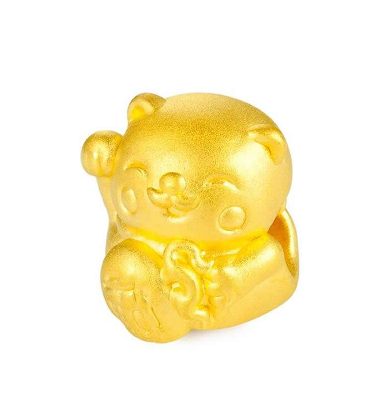 Nouveau Bracelet en or jaune 24 K Bracelet en or 3D 999