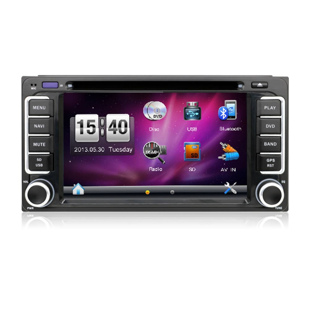 2 din 6.2 inch 200*100 Car DVD player GPS+BT+Radio+Touch ...
