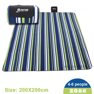 Image 3 - 200*200CM Beach Mat Blanket Outdoor Beach Cushion Camping Multiplayer Foldable Baby Climb Plaid Waterproof Picnic Sand Free Mat
