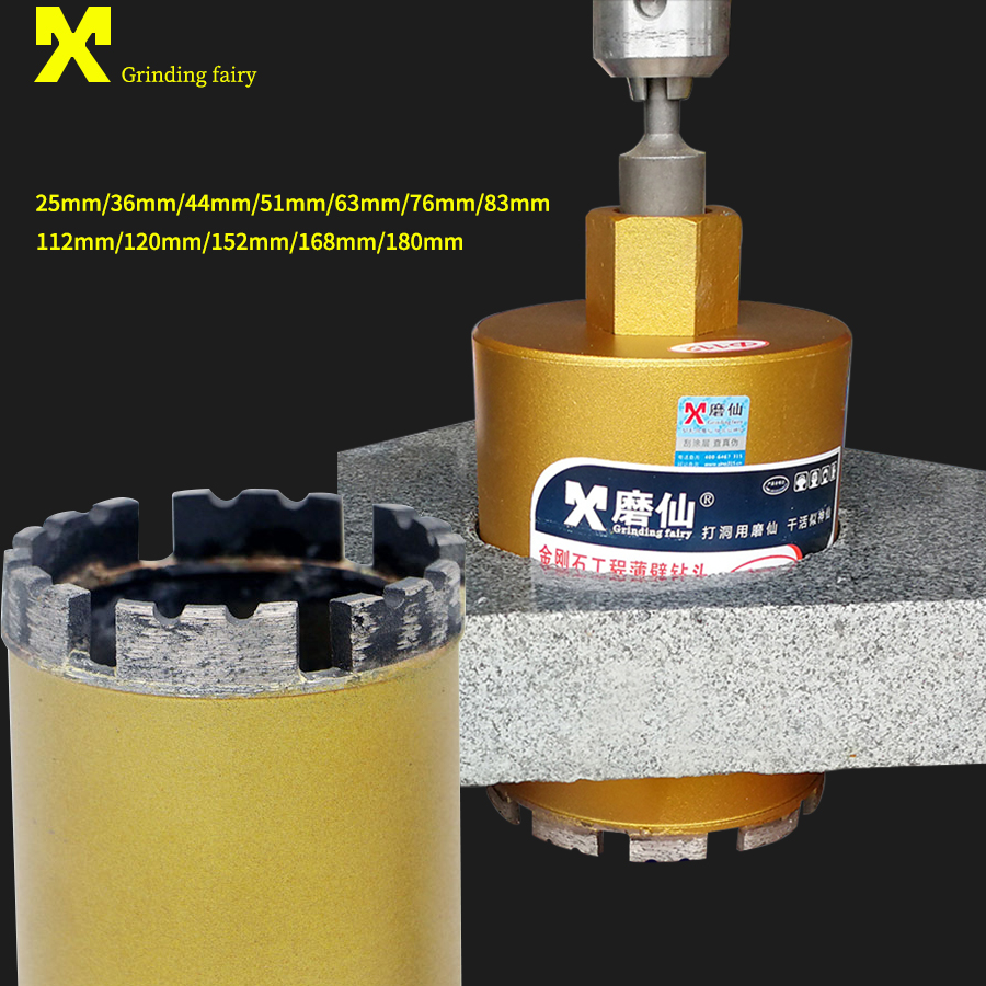 MX 25-180mm Diamond Drill Bit Cutting Hole Saw M22 For Water Wet Drilling Concrete Perforator Core Drill Masonry Dry Drilling