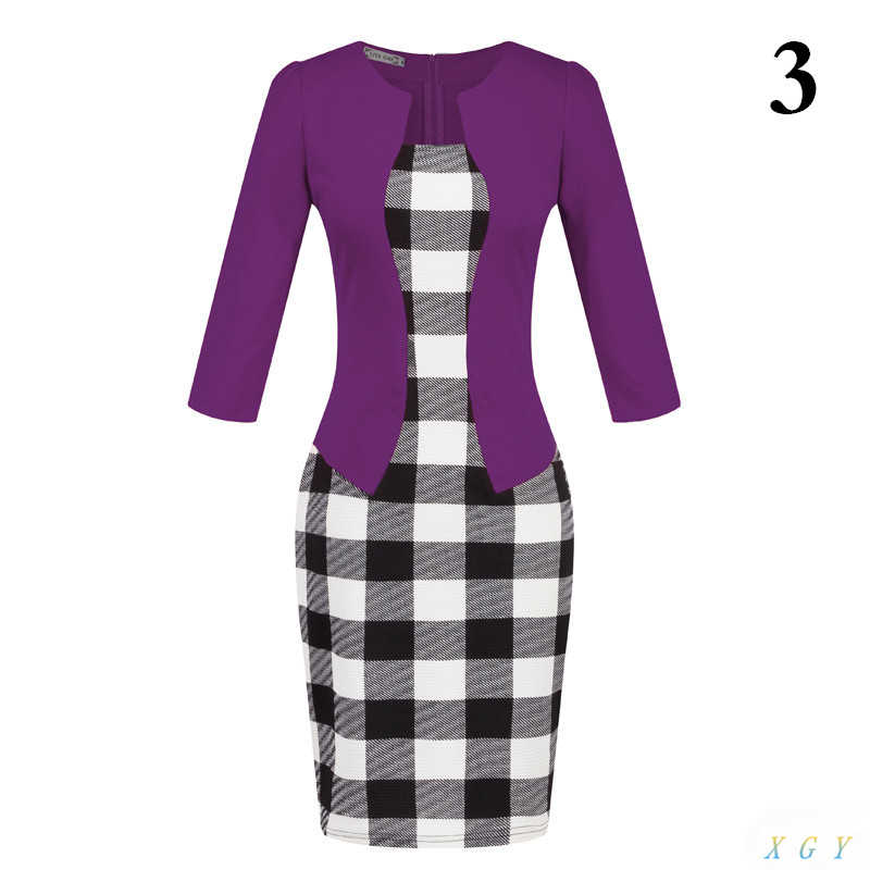 ... New Fashion Women Dress Sets Formal Pencil Dress Suits Print Flower  Plaid Office Wear Work Clothes ... cdf9942aeb36