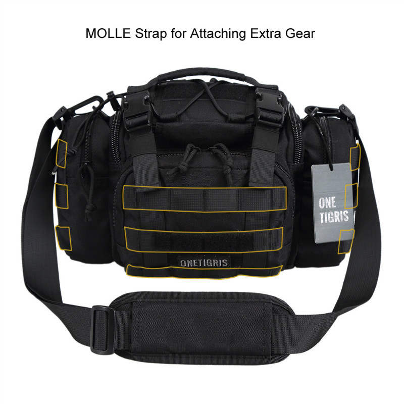 OneTigris tactique MOLLE chasse taille sac Pack pour hommes 3 voies modulaire déploiement utilitaire sac robuste avec bandoulière - 5