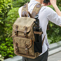 Высокая емкость батик Холст Ткань сумка для фотокамеры наружная Водонепроницаемая камера Плечи Рюкзак Для Cannon/Nikon/sony DSLR SLR