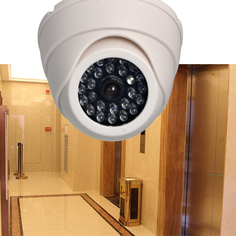 NEW Home Fake Camera Outdoor CCTV Fake IP Camera Surveillance Security Dome Mini Camera Black 26 Flashing LED Light Dummy