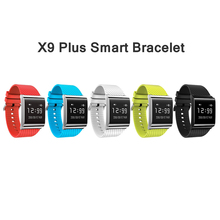 2017 Новый X9 плюс Bluetooth Smart Браслет крови кислородом смарт-фитнес-браслет сердечного ритма Мониторы Smart Band Водонепроницаемый