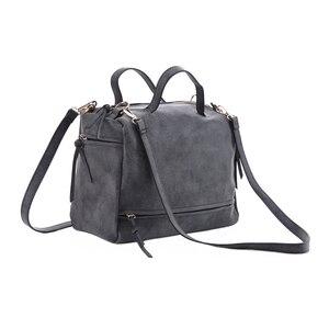 Image 3 - DIDA BEAR women handbag PU leather tote bag Retro shoulder messenger bags Tote Shopping bag green gray blue red Femme Sac a Main