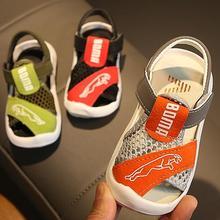 Новая летняя детская обувь брендовые сандалии с открытым носком для маленьких мальчиков ортопедические спортивные сандалии из искусственной кожи для маленьких мальчиков