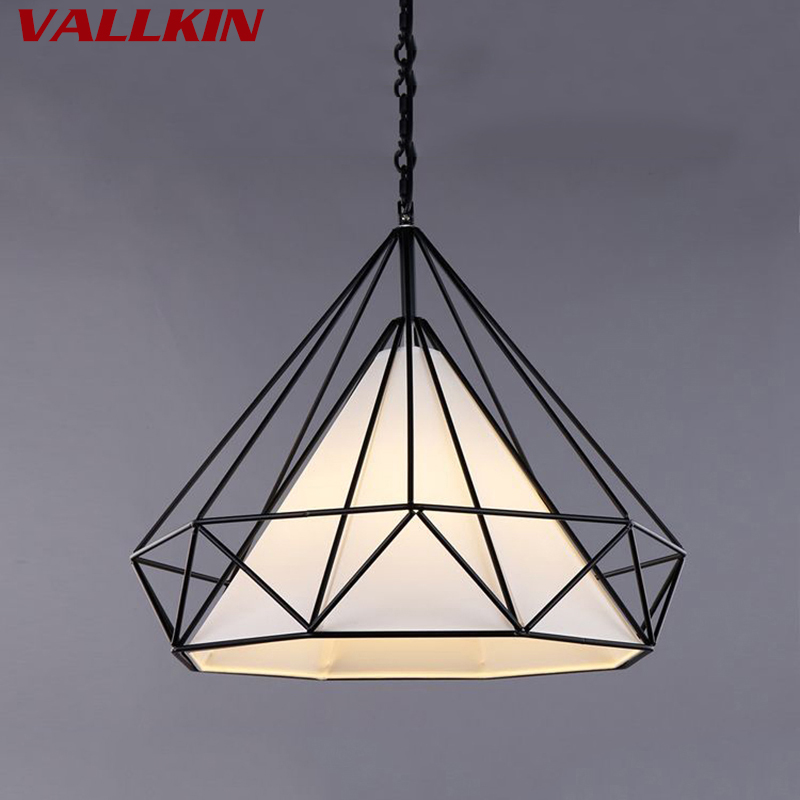 Birdcage Pendant Lights Modern Indoor Lamp Iron Minimalist Retro Light Scandinavian Loft Pyramid Lamp Metal Cage Diameter 36CM free with led bulb colorful birdcage pendant lights iron retro light oft pyramid lamp metal cage with vde best wire and holder