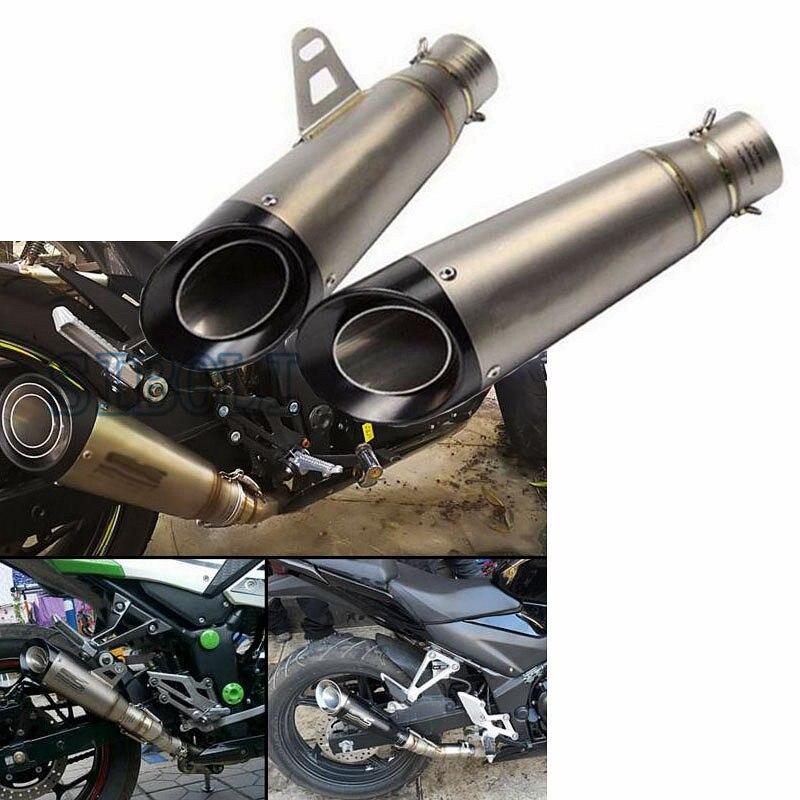 51mm 60mm Inlet Universal Motorcycle Exhaust Pipe Muffler Titanium Escape Moto For suzuki gsr 600 gsr 750 cb650f z650 fz1 trk502