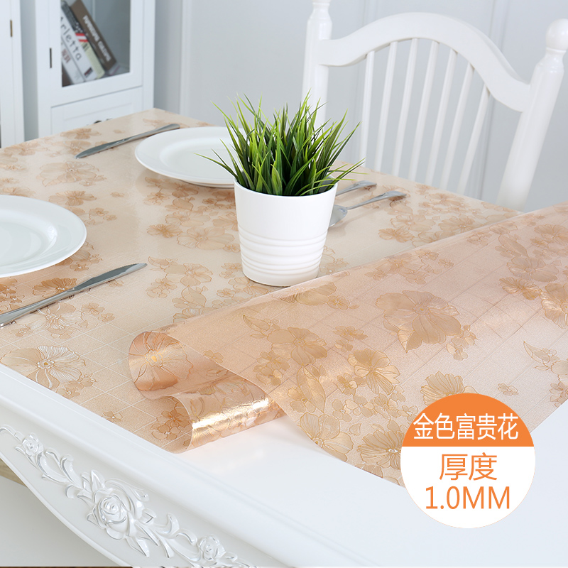 Restaurants Table Cloth Decorative Waterproof Tablecloth Elegant Flower Printed Hotel & Home Table Cover Kitchen Coffee Tea