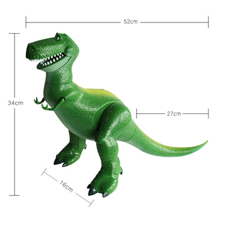 NO BOX 34cm with Sound Toy Story 3 Rex the Green Dinosaur PVC Figure Toy Collectible