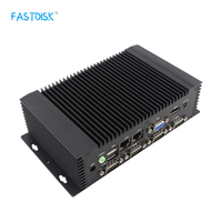 FASTDISK Industrial Business implant advertising style Mini PC Computer with 6 com support msata 2.5inch ssd hdd