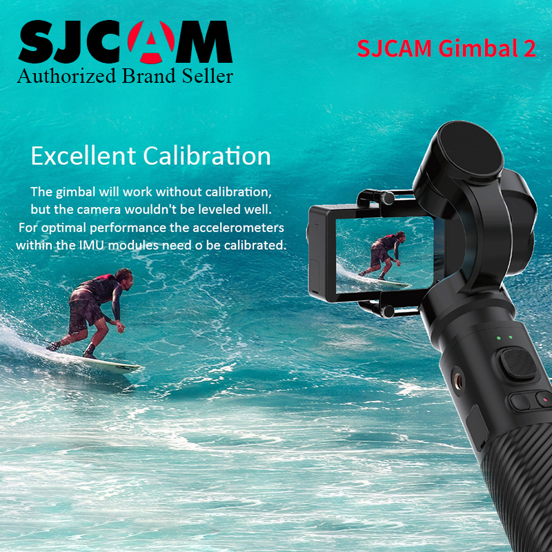 Update SJCAM Handheld GIMBAL 3 Axis Stabilizer Bluetooth Control Type C SJ Gimbal 2 for SJ6 SJ7 SJ8 Pro/Plus/Air Action Camera