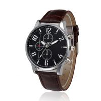 Business Style Men Watch relogio masculino Retro Design Soft Leather Band Exquisite Analog Alloy Quartz Wrist Watch 711 p50