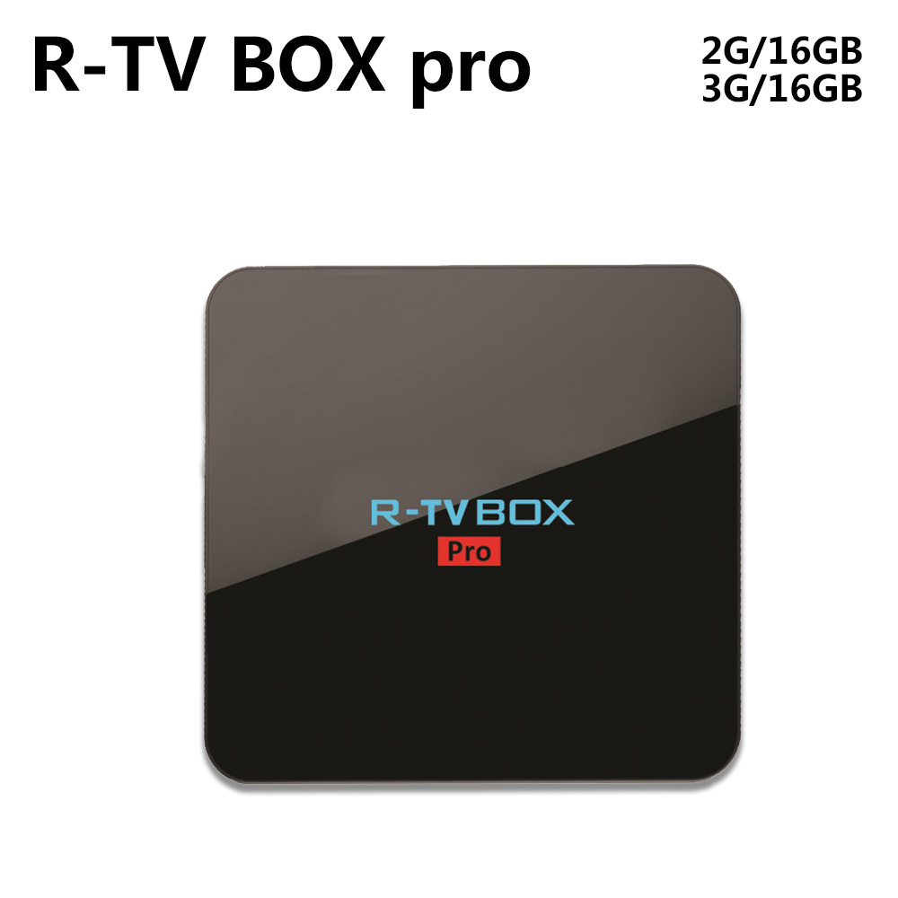Android 6.0 Amlogic S912 R-TV BOX PRO 64 Bit Octa core 2G/16G 3G/16G WiFi BT4.0 2.4G/5.8G H.265 4K Media Player KODI 17 zidoo x6 pro android 5 1 tv box rk3368 octa core 64bit 2g 16g bt4 0 kodi 2 4g 5ghz wifi h 265 gigabit lan mini pc media player