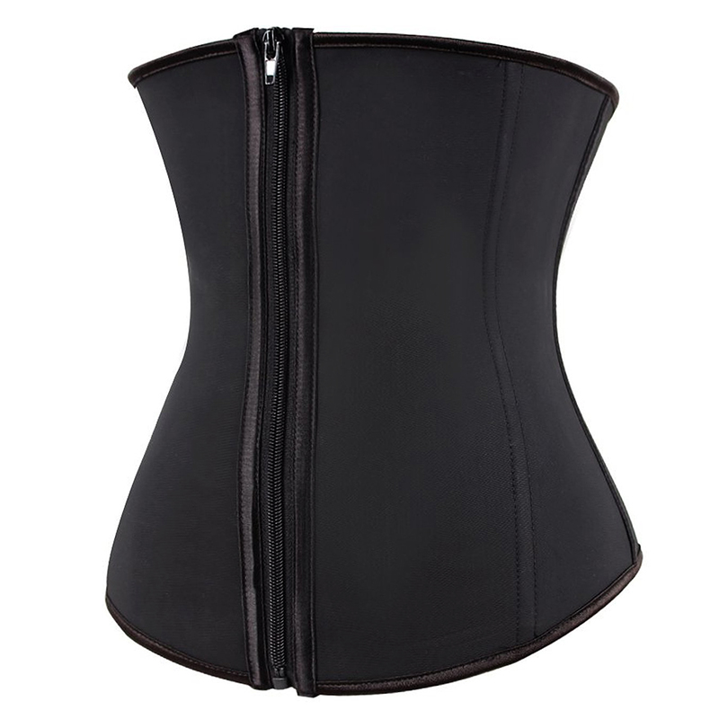 Hooks And Zipper Rubber Latex Waist Trainer Sexy Women Slimming Body Shaper Corsets Underbust Waist Cincher Corset Tops