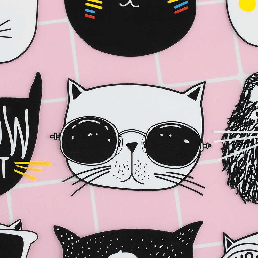9 шт./компл. мультфильм Милая кошачья морда Железный патч 2 стиля Детская одежда наклейки DIY патч Железный На теплопередачи патч